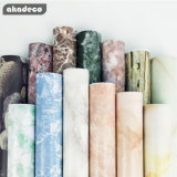 Akadeco Good Cheap 2D Exquisite Workmanship High-Grade Imitation Marble Self Wall Paper Sticker 3D Wallpaper Modern for Home Decoration