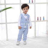 2021 Hot Selling Wholesale Gentleman Long-Sleeved Handsome Knitted Cotton Shirt Baby Clothes Boys Suits