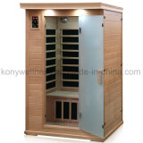 Sell 2 People Far Infrared Sauna Room Suitable as Bathroom Furniture as Dry Bath Made of Canada Hemlock or Cedar with Carbon Heating Panel,Ce,RoHS,ETL Certifica
