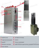 10 Antenna Handheld Jammer for CDMA/GSM/3G UMTS/4glte Cellphone +WiFi/Bluetooth +GPS+Lojack+R/C433/315/868MHz, Car Amount Jammer