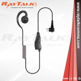 One Wire Two Way Radio Swivel C Earpiece with Inline Ptt Microphone 2pin for Motorola Cp040 Dp1400 Gp3688