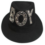 Cheap Fedora Hat Wholesale with Crystal Logo