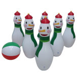 PVC Christmas Party Play Game Toys Inflatable Snowman Bowling Set Toys for Kids