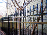 High Quality Spraying Plastic Sharp-Top Steel Fence