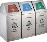 3 in 1 Stainless Steel Dustbin with Flip and Heavy Duty (HW-163)