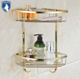 Manufacturer Wall Mounted Brass Golden Bathroom Corner Shelf