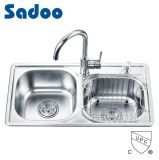 Practical Double Bowl Stainless Steel Kitchen Sink SD-7138