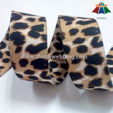 35mm Double Face Sexy Leopard Print Polyester Webbing