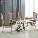 Stainless Steel Marble Top Dining Room Furniture Hly-St34