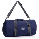 Custom Blue Nylon Duffel Sports Duffel Gym Bag for Men or Women