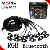 RGB LED Rock Light, 4 Pods in One Kit, 9W Per Bulb