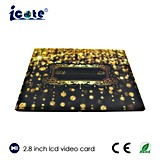 Good Selling 2.4/ 3.5/ 4.3/ 5/ 7 Inch LCD Wedding Card Greeting Brochure Video Greeting Card for Wedding