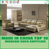 L Shape Office Sectional Leather Sofa Bed