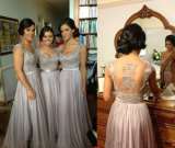 Hot Zuhair Murad Chiffon Lace Top Beaded Bridesmaid Dresses Long Evening Dresses