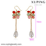 92942 Fashion Luxury Colorful 18K Gold Plated Pendant Earring Jewelry Cubic Zircon Diamond for Women