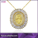 2016 Hot Sale Gold Plated CZ Stone Pendant Necklace Jewelry