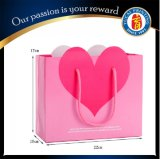 Customized Pink Love Paper Gift Bag Paper Shopping Bag
