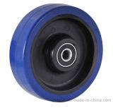 Blue Elastic Rubber Wheel, Nylon Castor Wheel