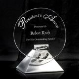 Customize Clear Laser Engraved Acrylic Trophy Event Award for  Corporation