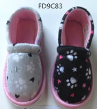Child Indoor Slippers with Textile Upper / Insole and TPR Sole