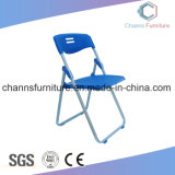 Durable Blue Plastic Floding Furniture Office Training Chair