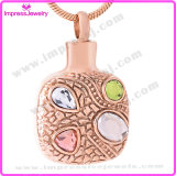 Rose Gold Cremation Jewelry Pendants Memorial Necklace with Crystals Pingentes Atacado Lote