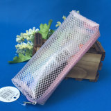 Resale Pink PVC Mesh Pencil Box Pencil Case Office Stationery for Students