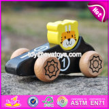 2017 New Design Tiger Shape Kids Toy Wooden Cars W04A334