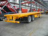 2 Axle 40FT Bogie Suspension Highbed Flatbed Semitrailer or Semi Truck Trailer
