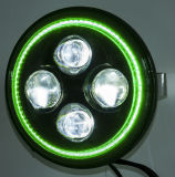 "7"" High Low Beam Green LED Motorcycle Headlights"