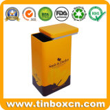 High Quality Low Price Rectangular Metal Coffee Tin Box with Flush Appearance for Chocolate Tea