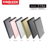 Portable Charger 6000 mAh Metal Power Bank with 2.1A Output External Battery Pack for iPhone Samsung Huawei Xiaomi