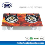 High Quality 2 Burners Tempered Glass Top China Gas Stove