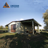 Lingshan Steel Structure Light Prefab Garage Carport