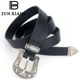 Fashion Western Retro Engraving Belt Wholesale Women PU Leather Double Buckle Belt