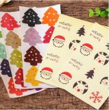 Custom Cheap Christmas Waterproof Removable Paper Food Stickers