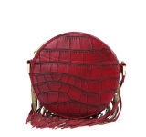 Classical Crocodile Red PU Handbag Leather Handbags (LDO-15800)