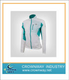 Green and White Waterproof Lightweight Jacket for Lady