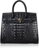 Classic Embossed Crocodile Purse Genuine Leather Office Ladies Handbags Satchel Padlock Tote Bag