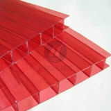 Red Color Twin-Wall Polycarbonate Sheet for Decoration