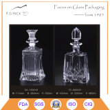 Super Flint Glass Liqueurs Bottle in 880ml with Cork