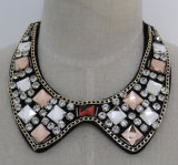 Fashion Lady Square Crystal Chunky Costume Jewelry Collar (JE0171)