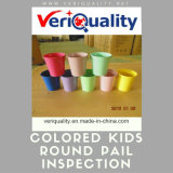 Colored Kids Round Pail with Foldable Handles QC and Inspection Service