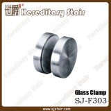 Round Stainless Steel Glass Clamp for Flat Pipe (SJ-F303)