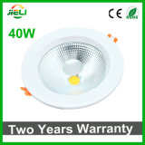Two Years Warranty 40W COB LED Recessed Down Light