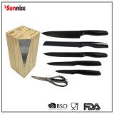 New Design Kitchenware Set of 6PCS Non-Stick Coating Kitchen Knife (KSE163)