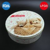 Round Cartoon Tin Box for Candy and Foods (R005-V8)