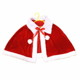 Fashion Women Christmas Mrs Santa Claus Cloak Christmas Costume Mini Cappa Cloak Cape