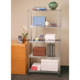 NSF Approval DIY 4 Tiers Chrome Metal Wire Book Storage Rack