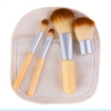 High Quality Mini 4PCS Bamboo Beauty Tools Makeup Brushes